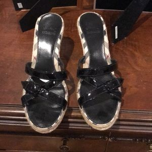 Burberry wedge mules